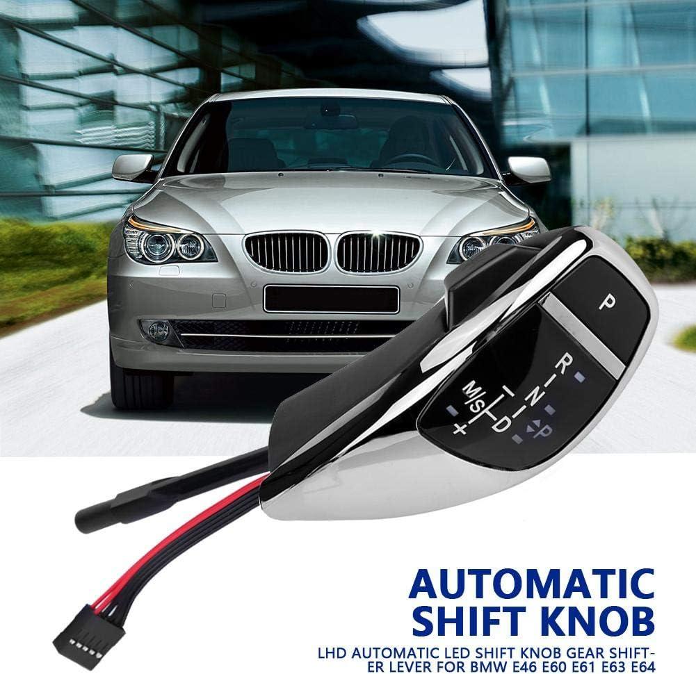 Driver Side LHD Automatic File LED Pomello cambio Shifter Carbon Fiber