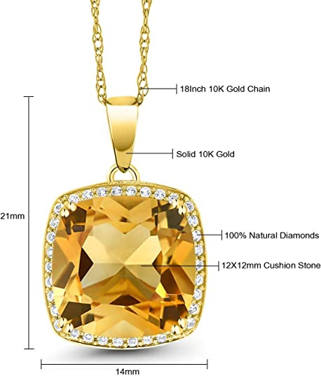 Natural Oval Smoky Quartz Pendant in 10K Yellow Gold with 18 Inch Chain Brown Birthstone Holiday Gifts Birthstone Jewelry