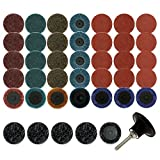 Coceca 41Pcs Sanding Discs Set,2 inch Quick Change Discs, Roloc Surface Conditioning Discs, with 1/4 inch Tray Holder