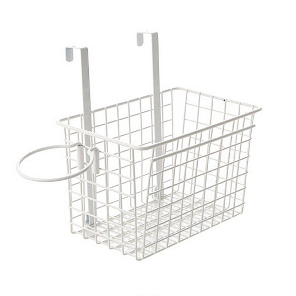OUNONA Over the Door Hair Dryer Holder Multifunctional Bathroom Organizer Kitchen Storage Organizer Storage Rack (White)
