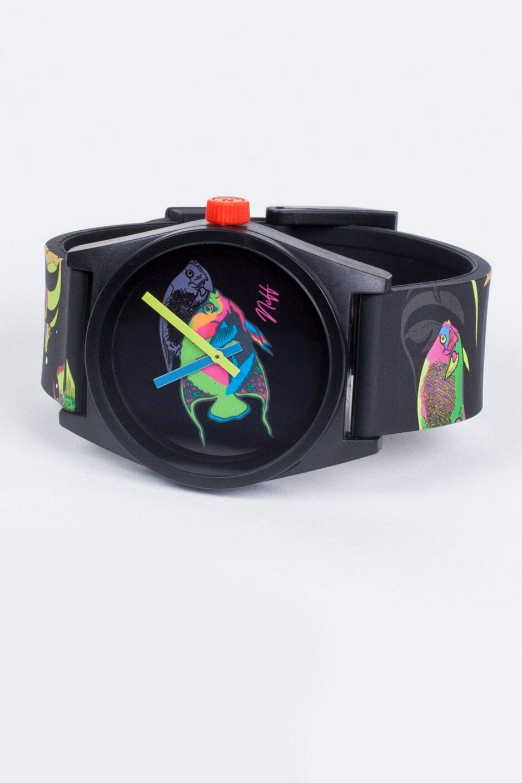 neff Men's Analog-Quartz Sport Watch with Plastic Strap, Multi, 23 (Model: NF0208-7