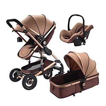 3a74bf3f1250 Amazon.com : High end Baby Stroller 3 in 1 with car for Newborn Alta ...