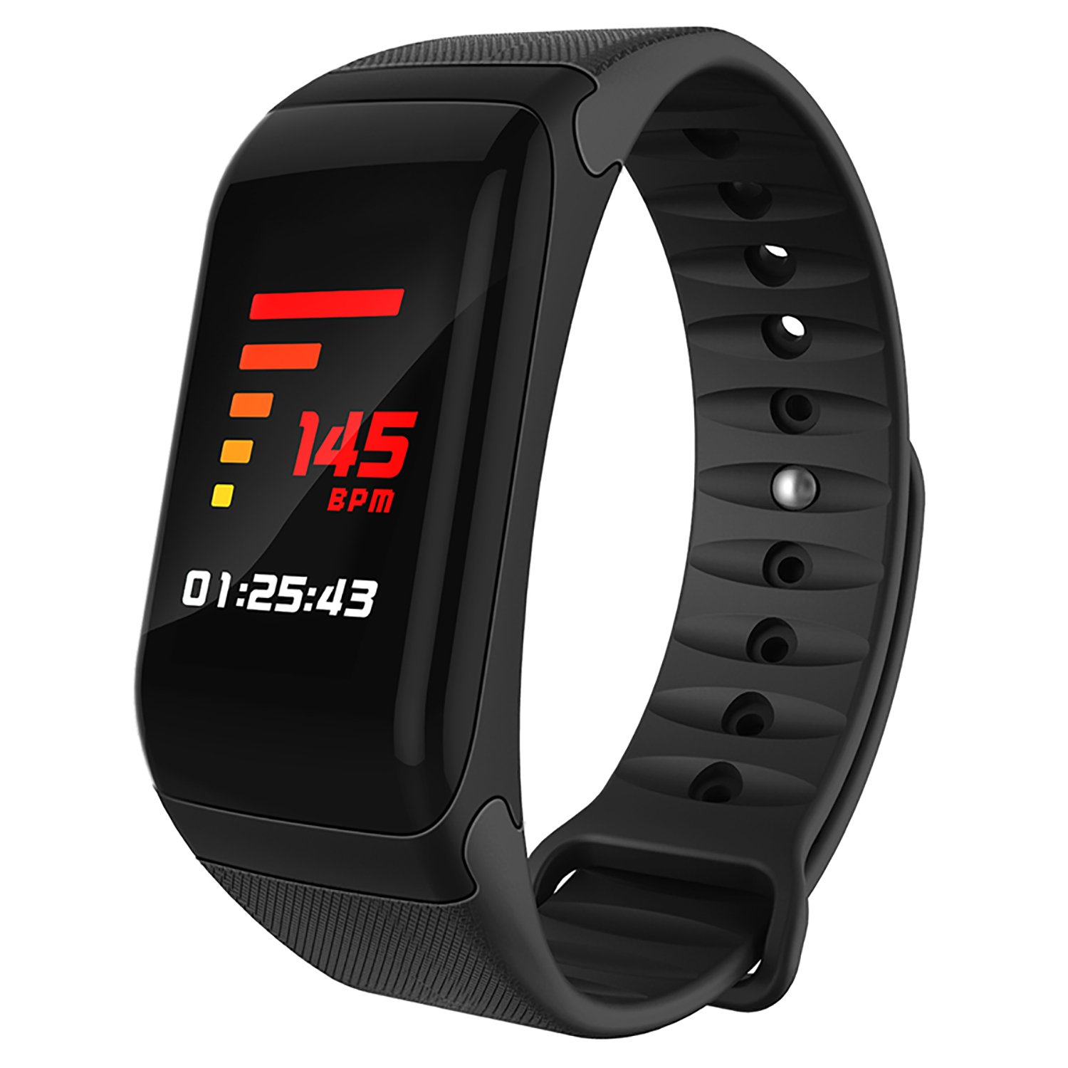 HYON Activity Tracker Large Screen Fitness Watch Smart Band Heart Rate Blood Pressure SpO2 Sleep Monitor Step Counter Pedometer Calorie Distance Measure Call Message Alert Remote Shutter Music Control