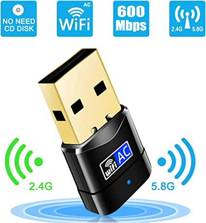 Usb Wifi Adapter 600mbps Wireless Network Dongle For Pc Desktop Laptop No Cd