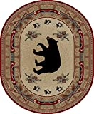 Rug Empire 4882 Rustic Lodge Woodlands Bear Area, 5'3″ x 7'3″ Review