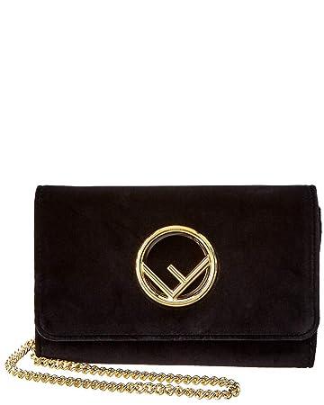 aa91a1187c0 Amazon.com  Fendi Women s Velvet Wallet on Chain Black  TheLuxuryClub