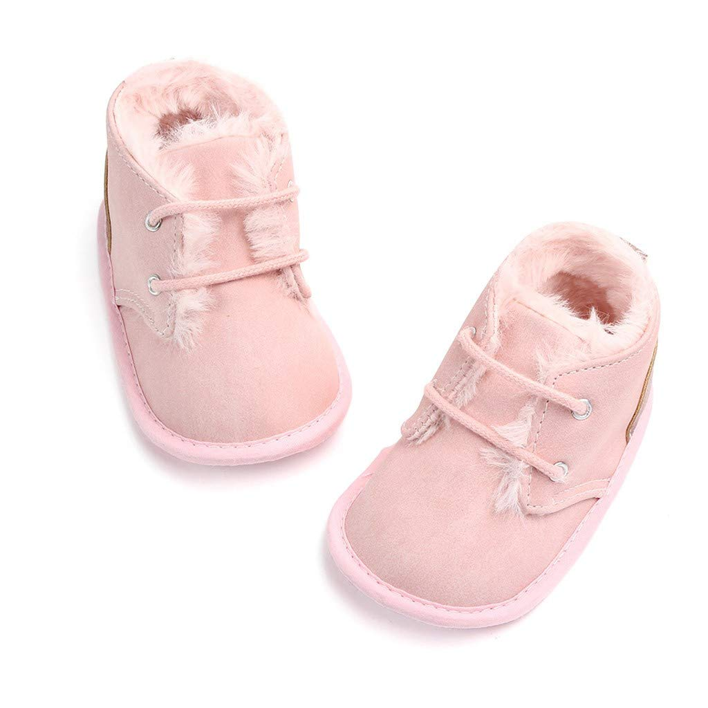 OCEAN-STORE Toddler Boys Puppy Cotton Warm Winter Non-Slip House Slipper Kids Athletic Running Shoes Knit Breathable Lightweight Walking Tennis Sneakers for girlsPink3-6 Months