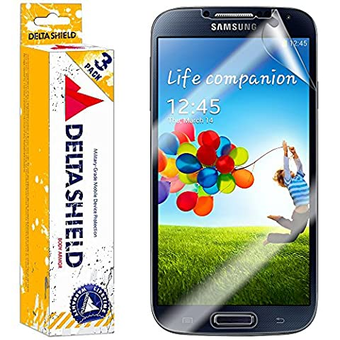 [3-PACK] DeltaShield BodyArmor – Samsung Galaxy S4 Screen Protector – Premium HD Ultra-Clear Cover Shield with Lifetime Warranty Replacements – Anti-Bubble & Anti-Fingerprint Military-Grade (Android S4 Privacy Screen)