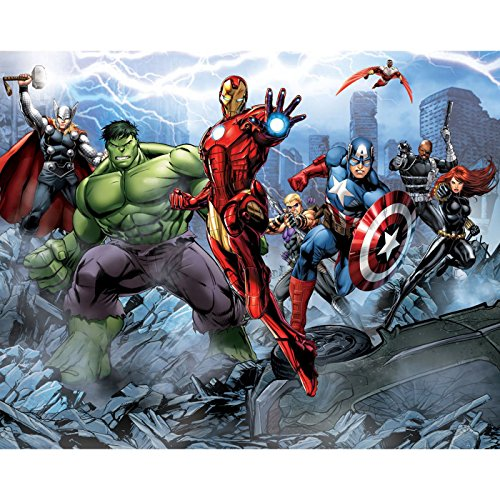 Panel Mural (Walltastic Avengers Assemble 12 Panel Wall Mural (43848 ))