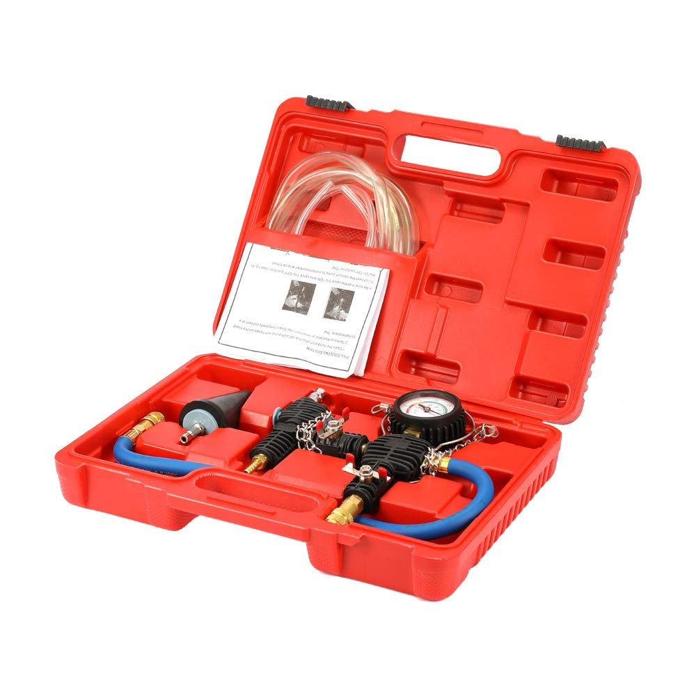 Docooler1 Auto Car Radiator Cooling Antifreeze Replacement Tool Kit Vacuum Pump Coolant System Antifreeze Injector