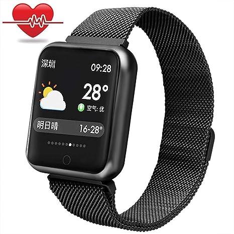 MrRong Relojes Inteligentes Resistente al Agua, Reloj Inteligente Deporte Monitor de Ritmo cardíaco Monitor de