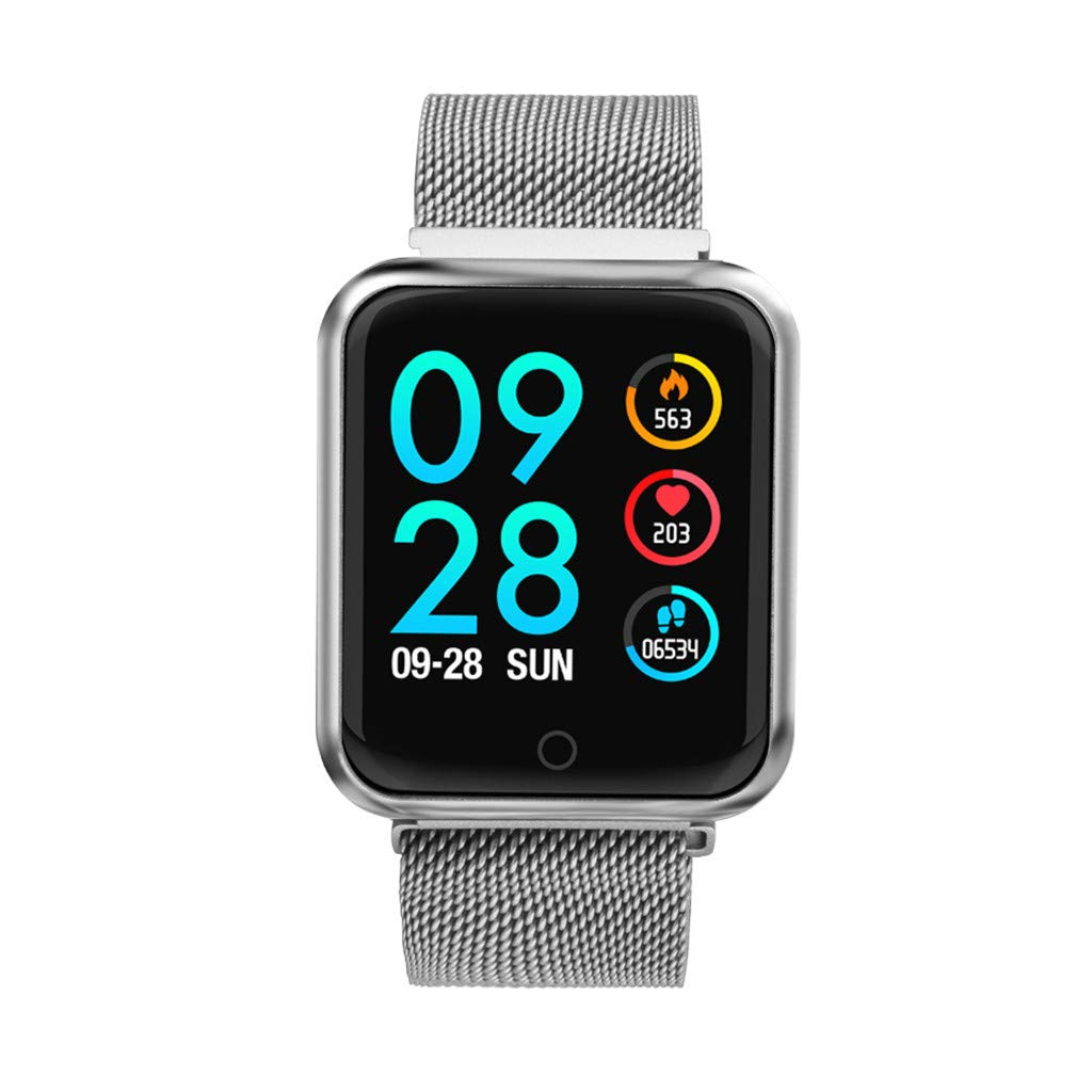 Letdown Smart Watch for Women Smart Camera Control Sports Fitness Tracker Heart Rate Blood Pressure Calories Waterproof Lightweight Versatile Smart Wrist Watch (Silver)