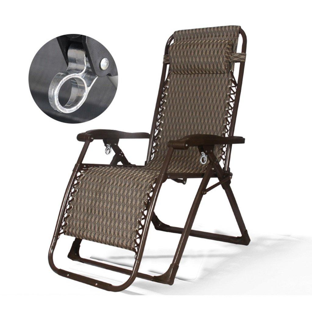 Klappstuhl Heavy Duty Schwerelosigkeit Liegestuhl Recliners Für Terrasse Outdoor Beach Lawn Camping Travle, 200 Kg