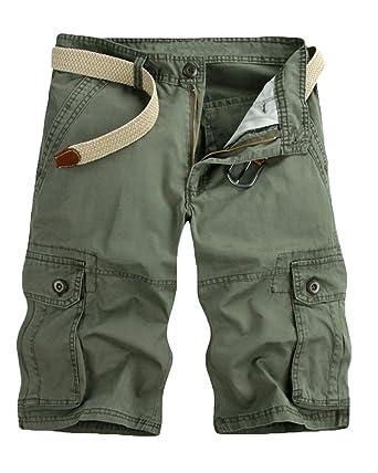 075393522a7c Herren Camouflage Kurze Hosen Bermuda Cargo Shorts Mit Taschen  Amazon.de   Bekleidung
