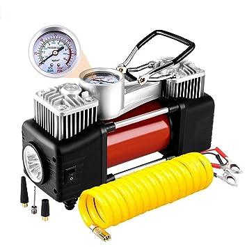 LEWWB Compresor de Aire, Bomba de neumático portátil 12V 300 PSI Auto Meter neumático inflador con presión preestablecida Auto Apagado Calibre, ...