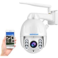 PTZ Cámara de Seguridad para WiFi 1080P Exteriores ,Cámara Zoom óptico 8X,Admite Audio bidireccional,Detección de…
