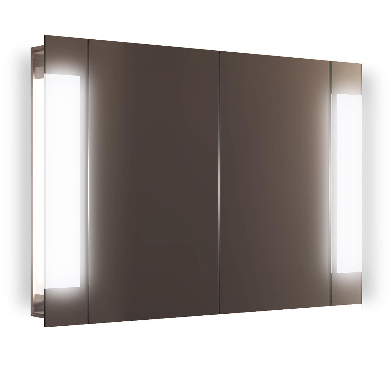 Diamond X Collection Gentle LED Bathroom Mirror Cabinet With Demister Pad, Sensor & Shaver k1502i