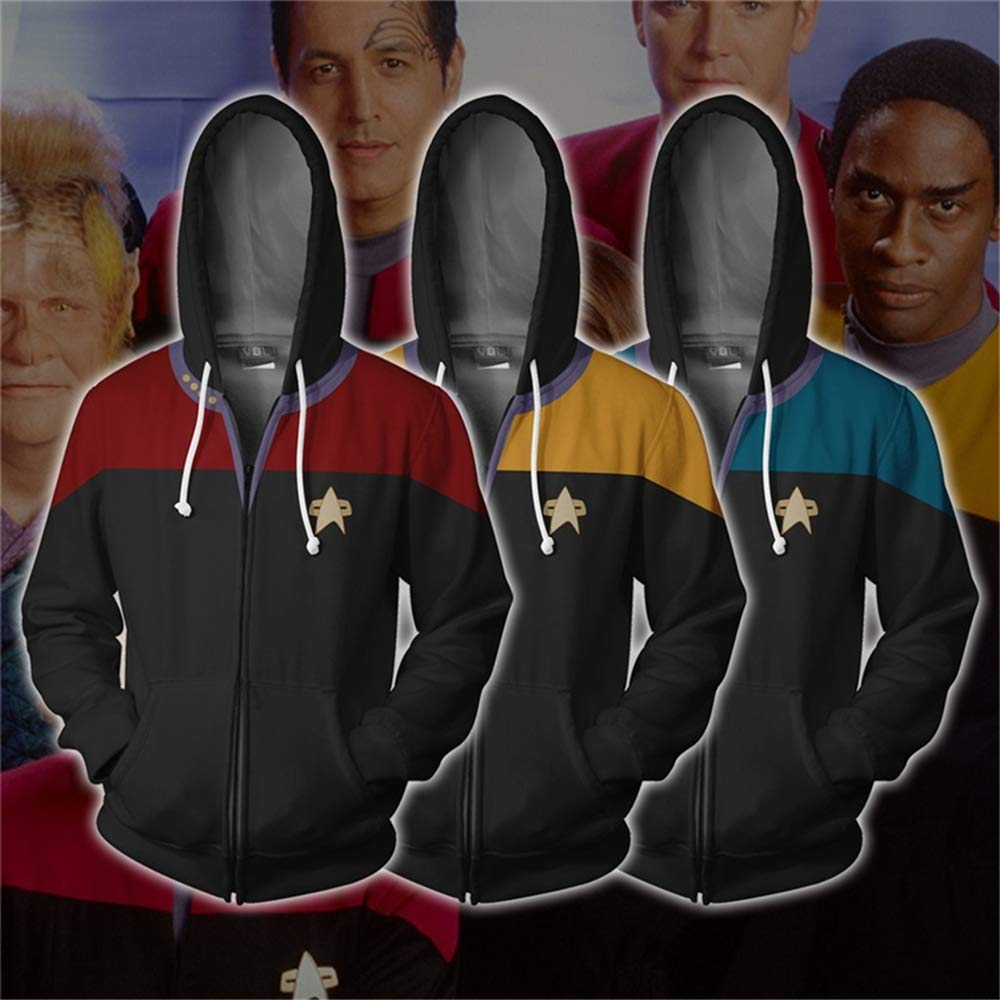 TIANQING 3D Star Trek clothes hoodie Sports Sweater Unisex 3D Printed Hooded Sweatshirt with Big pocket Drawstring hoodie,A,3XL