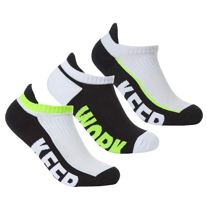 1048c62eaf Ladies 3 pack of Low Cut Trainer Liners/Gym Socks (Green): Amazon.ca ...