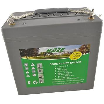 Haze HZY12-55EV - Batería para sillas de ruedas eléctricas y motos para personas con