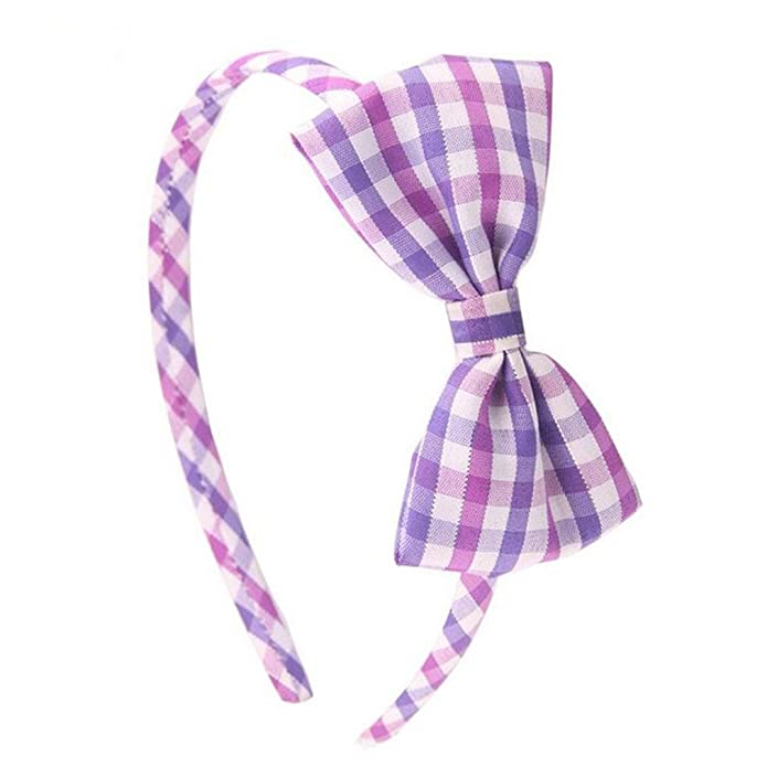 Amazon.com: Astral 1 pcs niños niñas Plaid Hairband Sweet ...