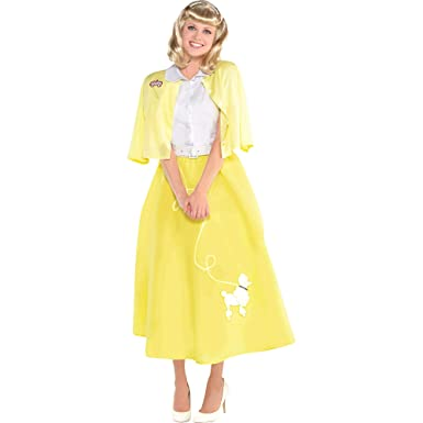 SUIT YOURSELF Grease Sandy Olsson Summer Nights Costume for Women, Includes a Dress, a Sweater, and a Belt