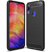 Capa Anti Impacto para Redmi Note 7 e 7 Pro (Tela 6.3), Carbon Fiber, TPU Ultra Slim, Cushion Design Shell, Xiaomi Redmi Note 7 e 7 Pro (Tela 6.3) - Preto