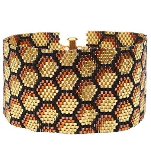 Peyote Bracelet - Honeycomb - Exclusive Beadaholique Jewelry (Peyote Bead Bracelet)