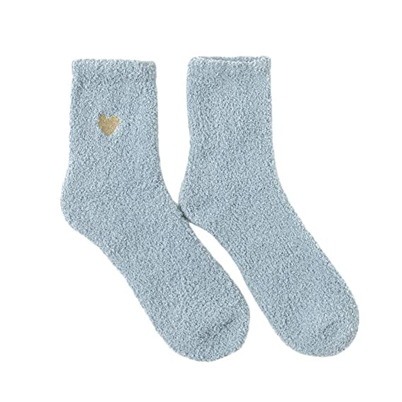 Sylar Calcetines Mujer Invierno Barato Grueso Suave Casual Más Terciopelo Color Sólido Bordado Calcetines CóModos Caliente