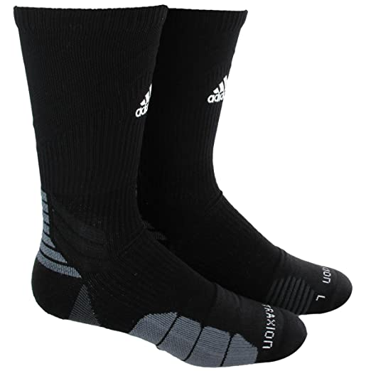 7f645fab53a7 Amazon.com : adidas Traxion Menace Football/Basketball Crew Socks : Clothing