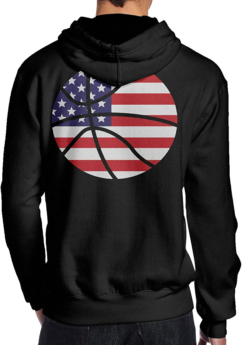 BB/&YYY USA Flag Basketball Mens Pullover Hoodie Sweatshirt Back Print Hoodies