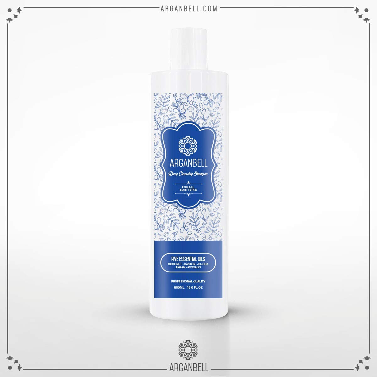 ARGANBELL Deep Cleansing Shampoo. Created With a Mix of 5 Wonderful Oils – Coconut,
