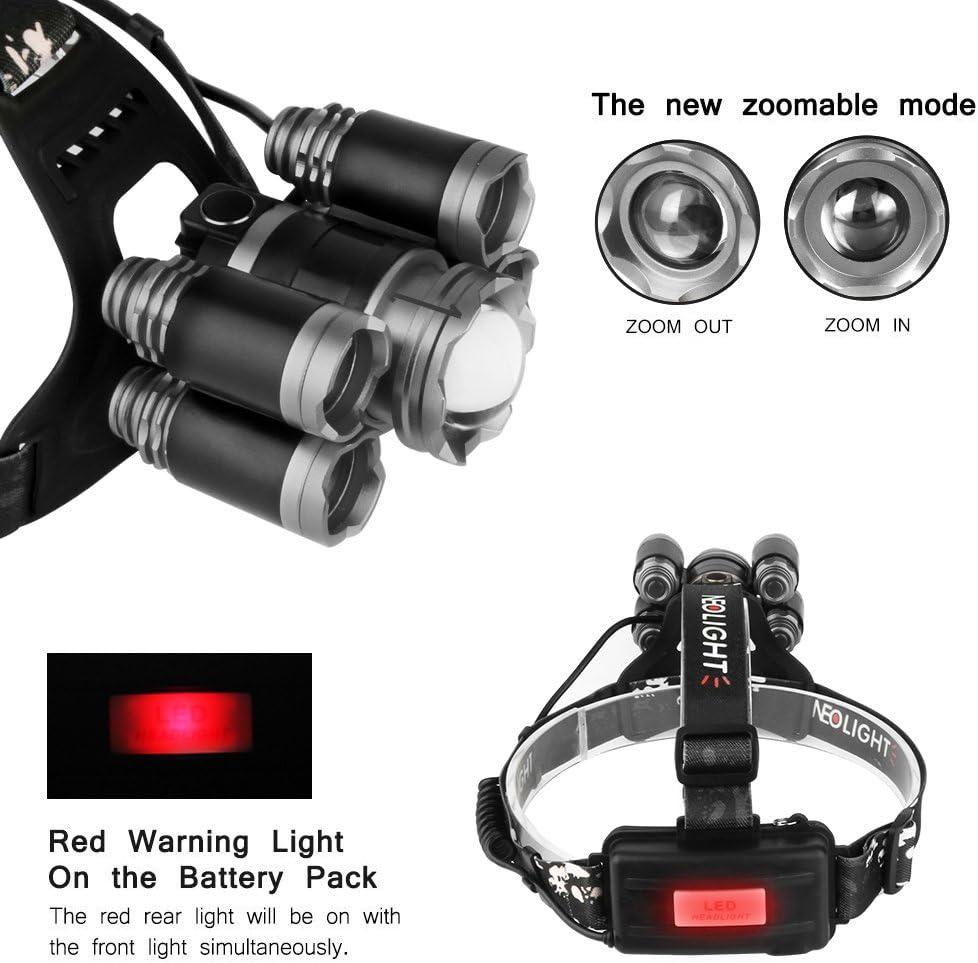 Laluztop Luz Frontal Súper Brillante Recargable Impermeable 4 Modo ...
