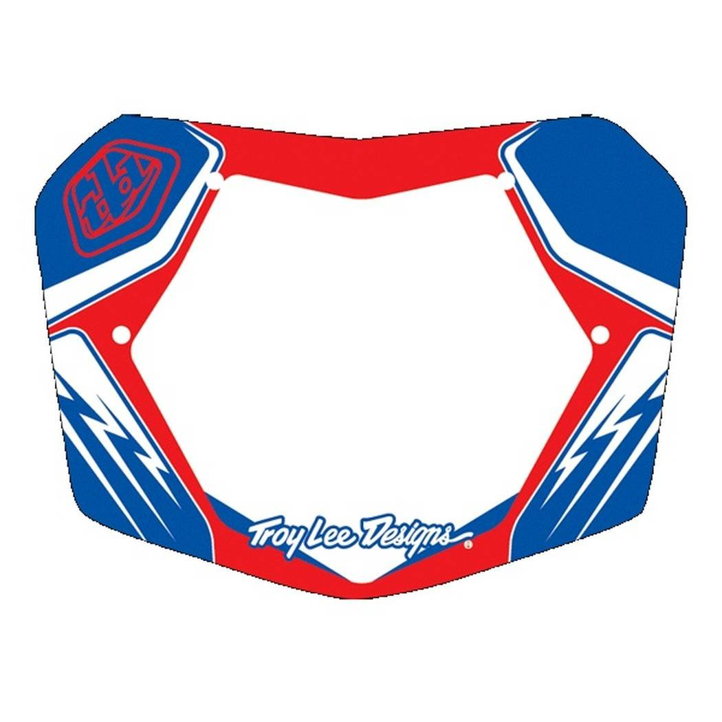 Troy Lee Designs TLD BMX Plate Red/White/Blue 10''