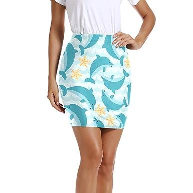 LUPINZ - Mini Falda elástica para Mujer con diseño de Dibujos ...