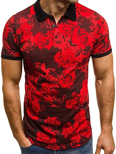 Camisetas Hombre YanHoo Manga Corta Estampado Gimnasio Deporte Slim Fit Streetwear Camisas Casual Sudaderas Camuflaje Hombre Militares Camisetas ...