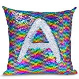 Image of Magic Mermaid Pillow Cover Reversible Sequins Color Changing Pillow Case Funny Home Decoration