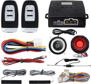 crime guard car alarm wiring diagram amazon com easyguard ec003 smart key pke passive keyless entry  easyguard ec003 smart key pke passive