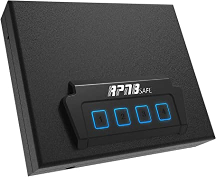 Portable Security Safe, Quick-Access Dual Firearm Safety Device with Quick Reliable Keypad Access