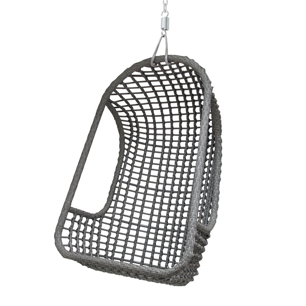 Hk Living Egg Chair.Hk Living Outdoor Hanging Egg Chair In Grey Amazon Co Uk Kitchen