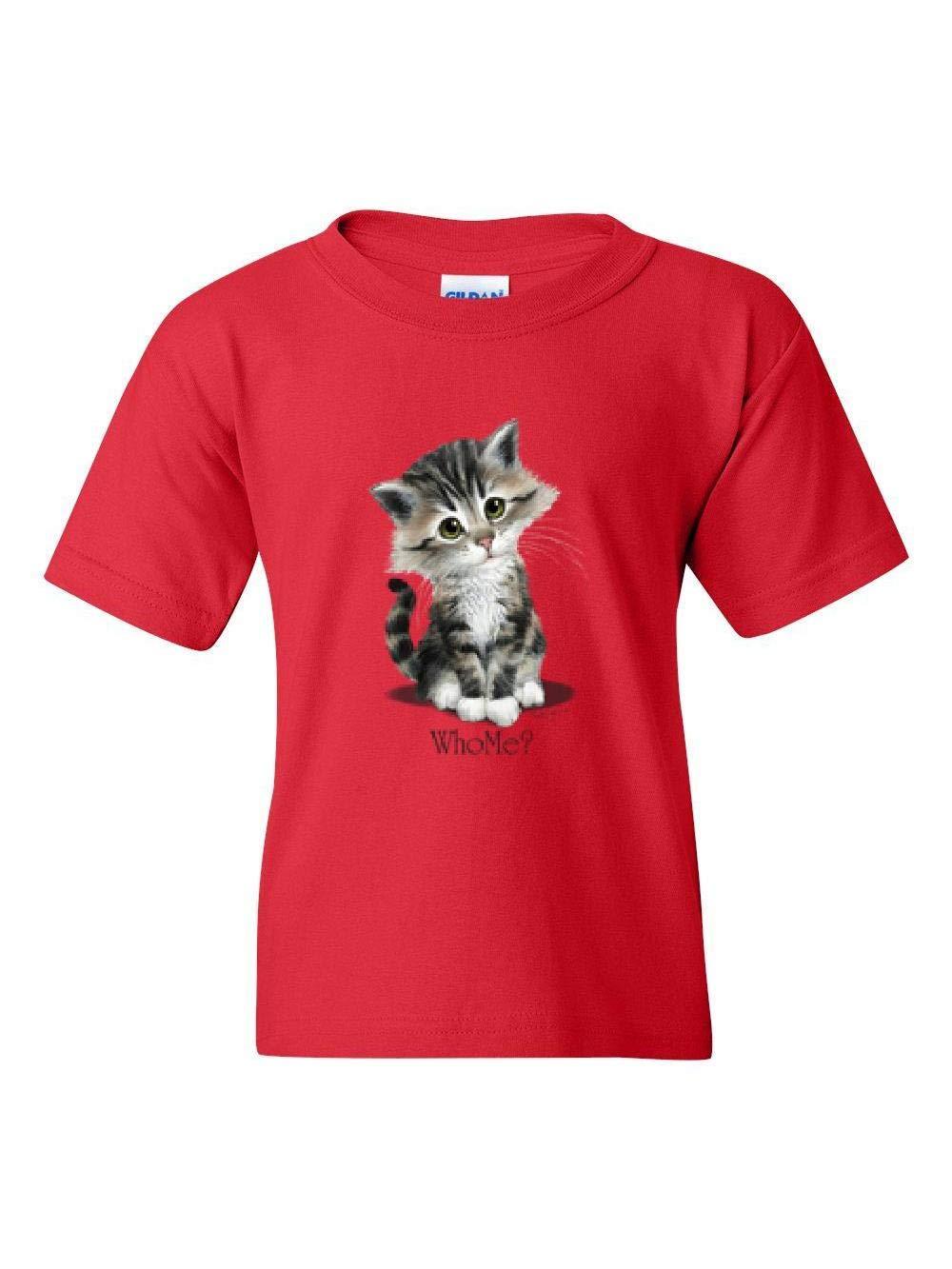 Who Me Kitten Funny Cat Lovers Gift Unisex T Shirt 6994