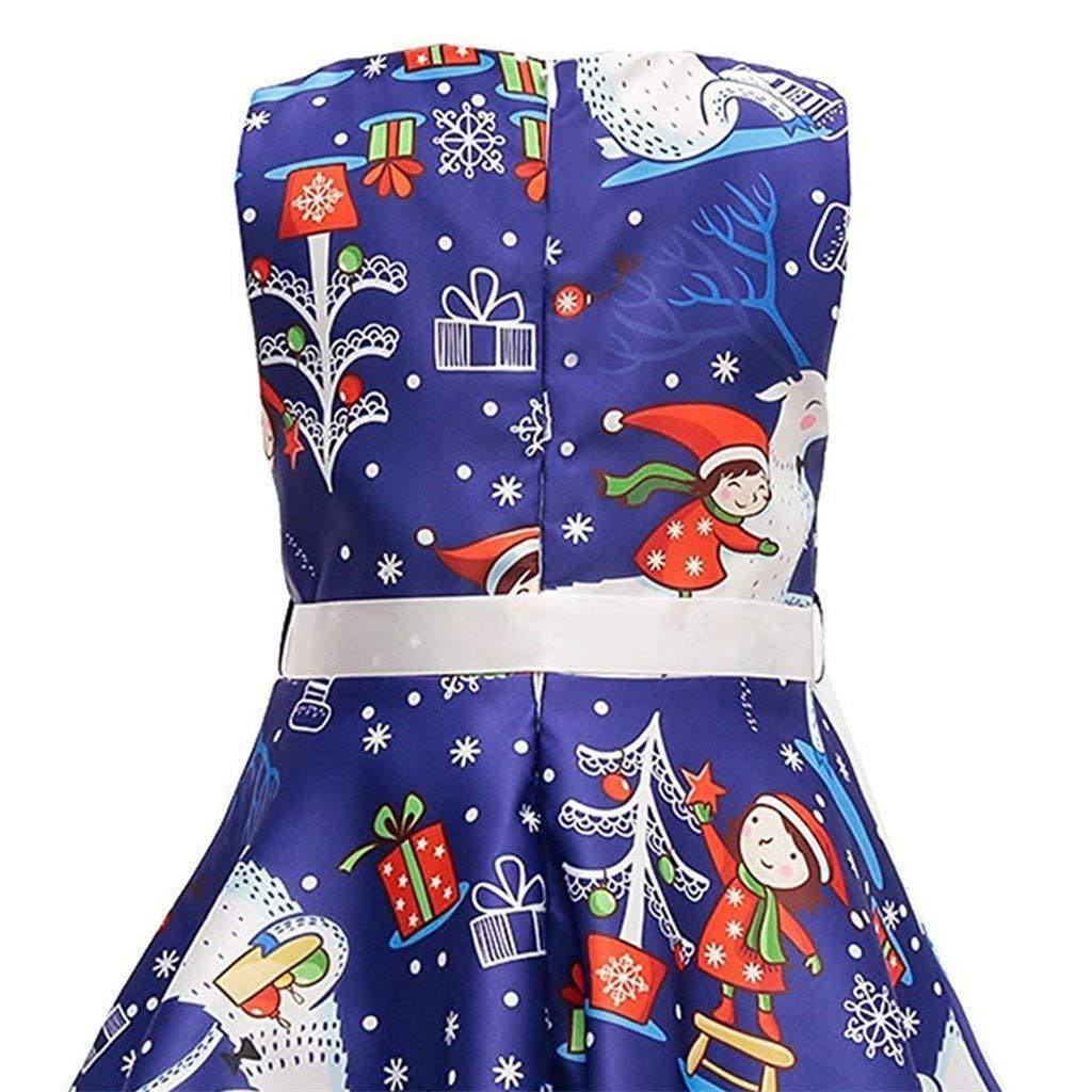 Bumplebee Weihnachtskleid Baby M/ädchen /Ärmellos Weihnachtenkleid Weihnachtsmann Weihnachtsbaum Socken Gedruckt Prinzessin Kleid Kinder M/ädchen Elegant Weihnachten Kleid Cosplay Zeremonie Abendkleid
