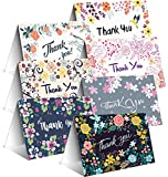 Thank You Cards Floral By Toplex– 4x6 Inches Thank You Cards In 7 Designs- Pack Of 42 Thank You Cards Bulk With 42 White Envelopes– Blank Inside Perfect Thank You Notes For Baby& Bridal Showers & More