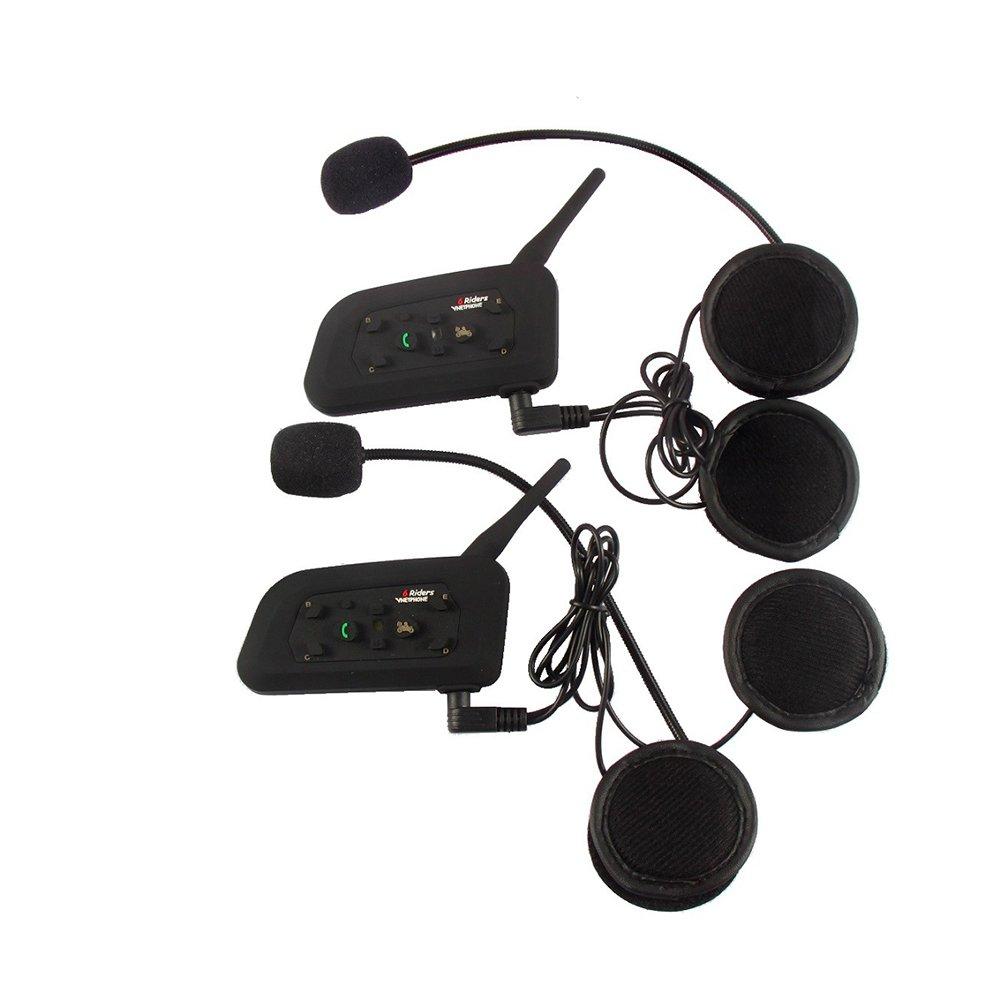 Docooler VNETPHONE Auriculares Casco de la Motocicleta V6-1200 Casco de moto con Bluetooth impermeable, resistente al ruido, resistente al viento, para montar en motocicleta, esqu/í