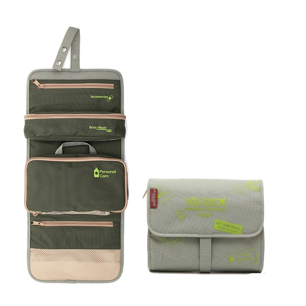 bc7c5b02fa6d Amazon.com: Toiletry bag CAICOLOR Hanging Foldable Waterproof ...