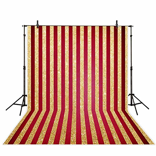 Red Glitter Backgrounds - Funnytree 5x7ft photography backdrop background Gold and red striped luxury Glitter wedding birthday Adults Party banner photo studio