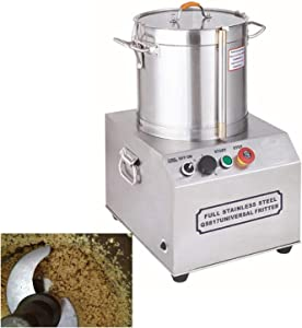 INTBUYING Commercial Food Processor Electric Food Cutter Stainless Steel Food Processor Perfect for Onion Vegetables Fruits Grains Peanut Ginger Garlic (15L)