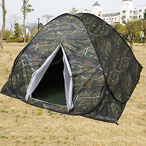 Ezyoutdoor Waterproof Outdoor Camping Dome Tent with Rain Fly and Easy Setup (3 Person) With Gift Mat Pad