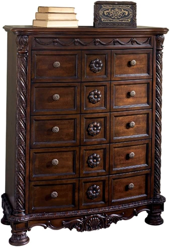 Titanmall Drawer Dresser, 4-Tier Storage Organizer, Dresser Tower Unit for Bedroom, Hallway, Entryway, Closets – Sturdy Steel Frame, Wooden Top, Removable Fabric Bins