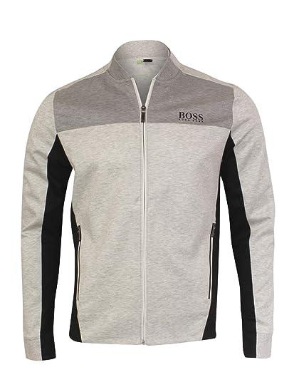 bcd56e60 Amazon.com: Hugo Boss Water-Repellent Sweat Golf Jackets Light/Pastel Grey  Medium: Sports & Outdoors